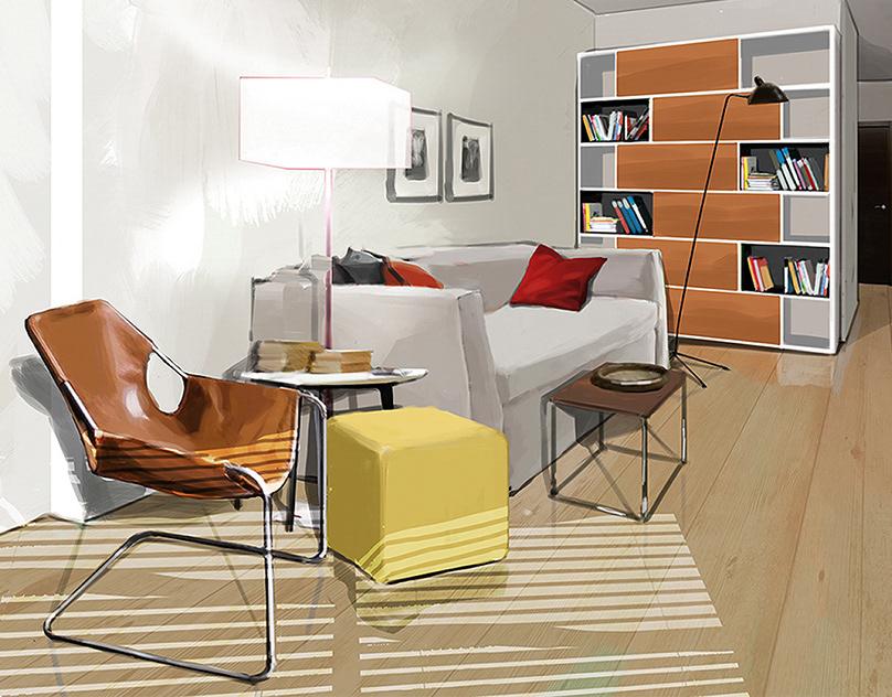 精緻的19套室內設計手繪欣賞