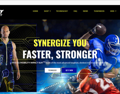 Web Design for Sports Apparel