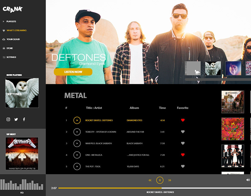 Adobe XD Daily Challenge Day 4: Music Player