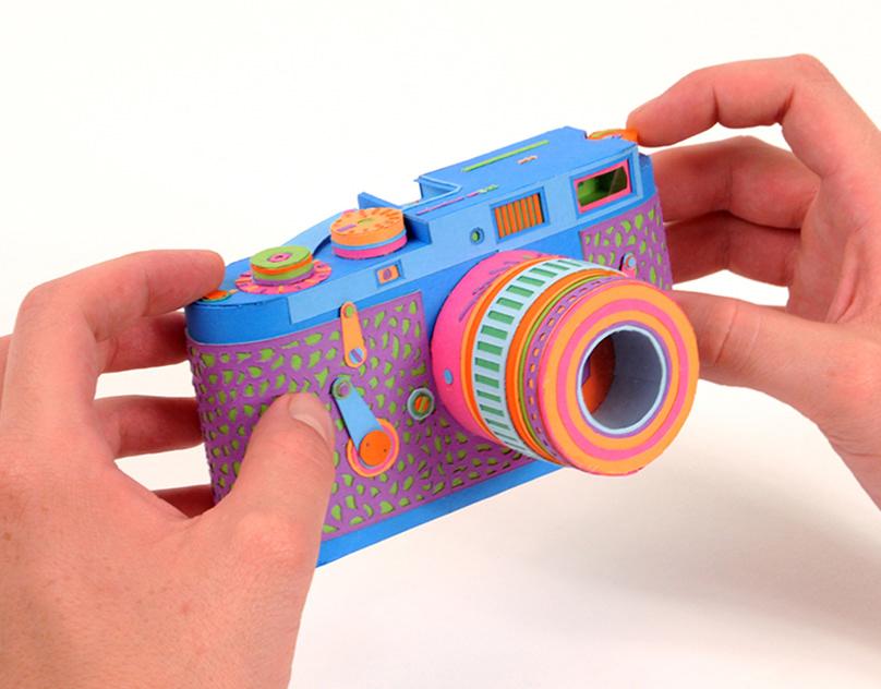 Как сделать из бумаги фотоаппарат открытку видео, днем