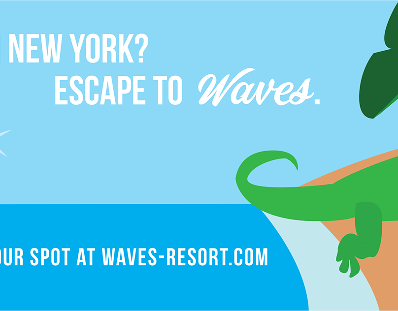 Waves Beach Resort Airport Ad