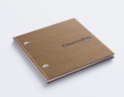 Clarendon Type Specimen