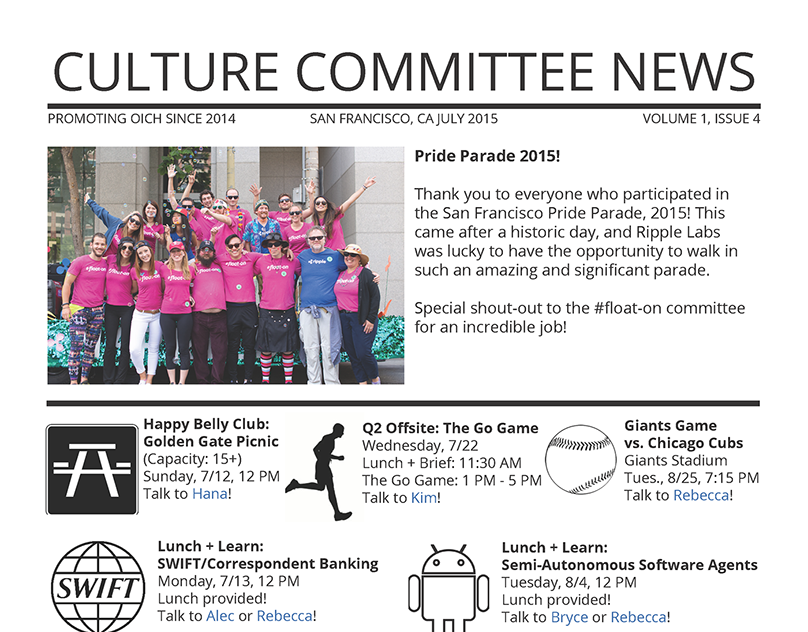 """Culture Committee"" Company Newsletter"