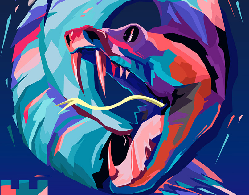 Картинки змей граффити