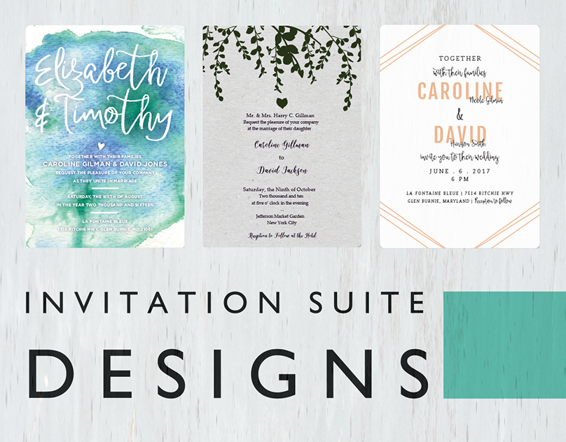 Invitation Suite Designs