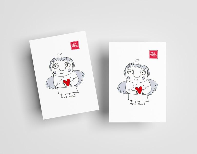 авторские открытки семья вкусные мягкие крендельки