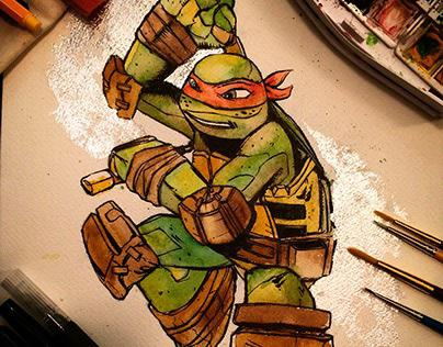 Michelangelo Watercolor