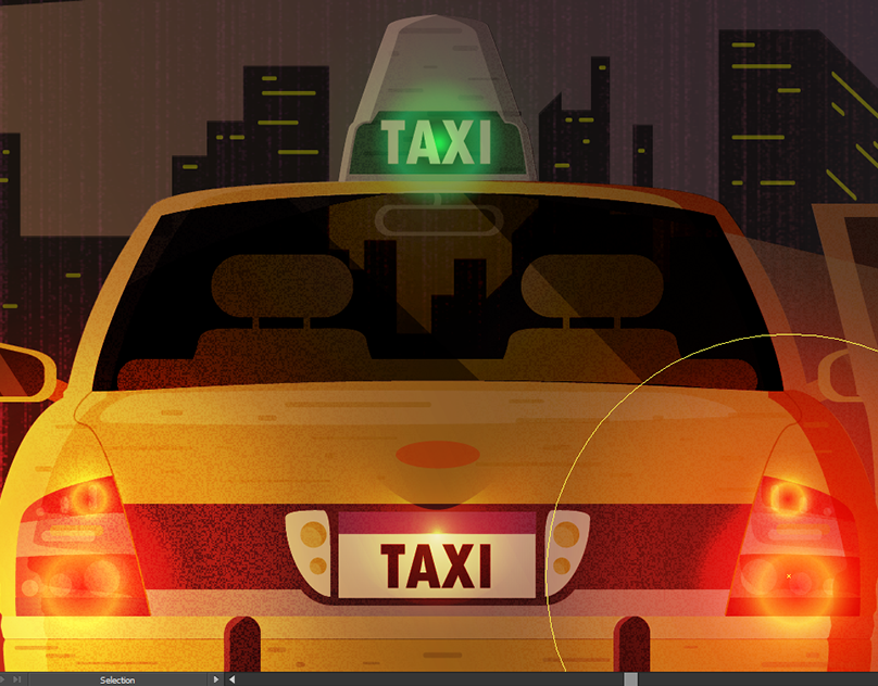 Оформить, гифка такси марсель