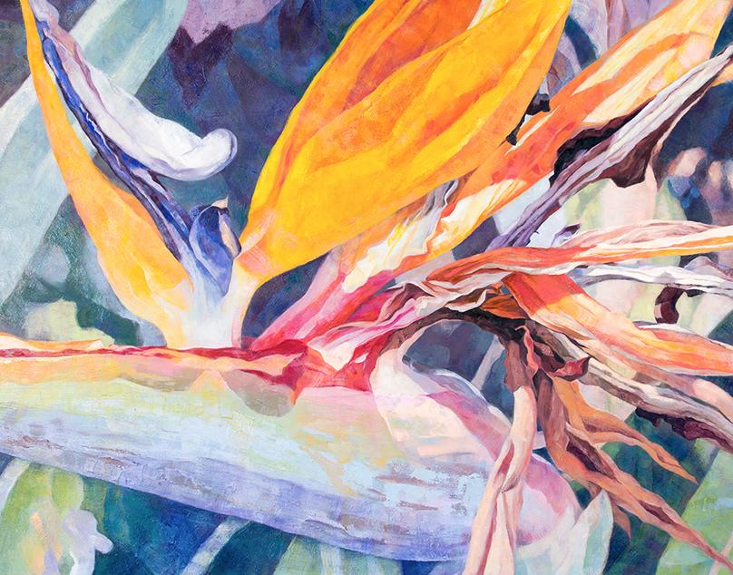 "Bird of Paradise Oil Painting - 60 x 48"""