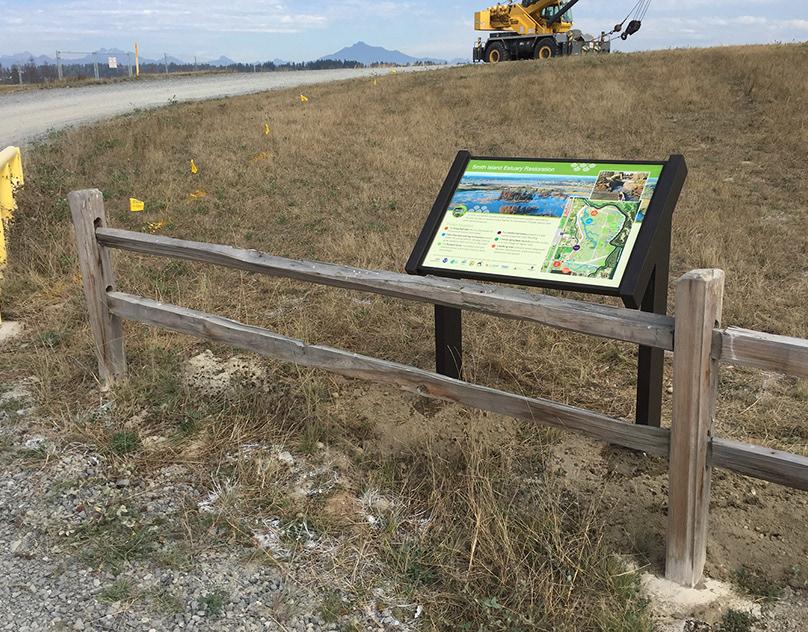 Smith Island Restoration Interpretive Sign