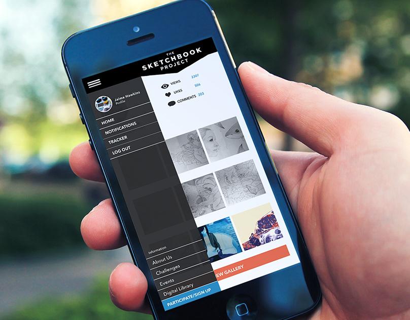 """""""The Sketchbook Project"""" App Design"""