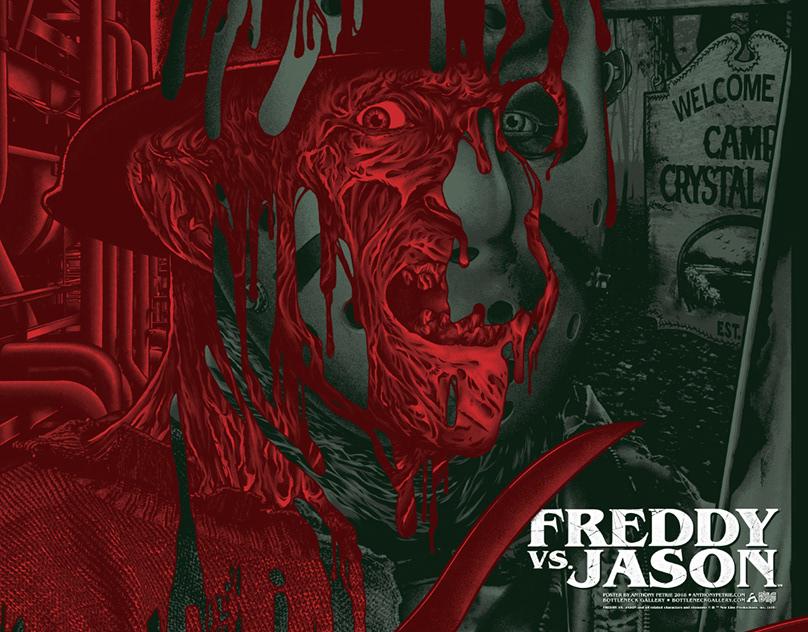 Freddy Vs. Jason Screen-Printed Poster