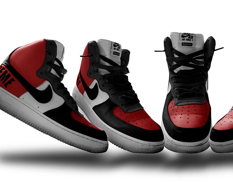 Shoe Nike Force Behance Free On Air One Psd Mockup b6yIY7vmgf