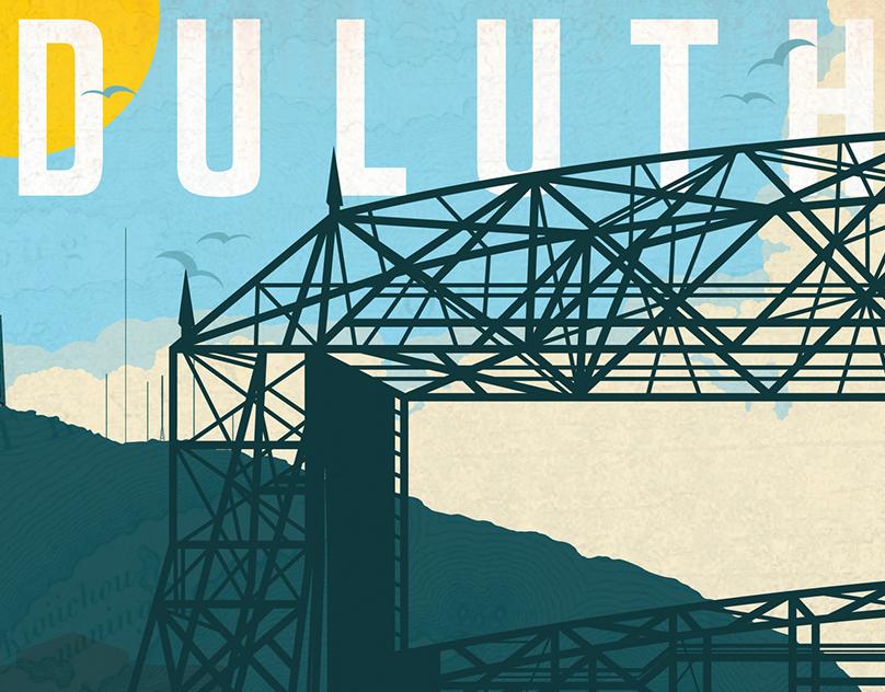 City Poster, Duluth, Minnesota