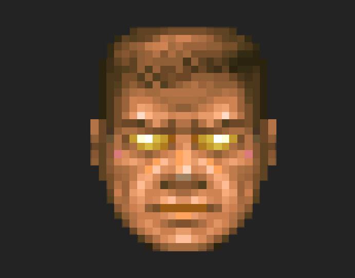 doom guy face sprite