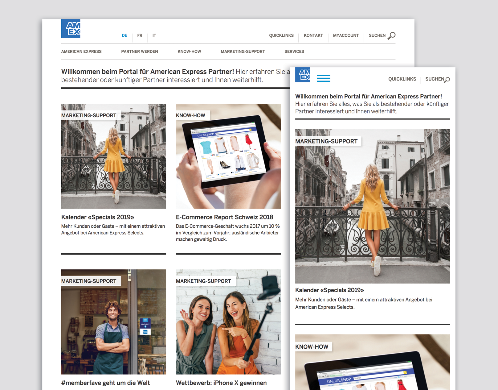 American Express | Partner Portal Website