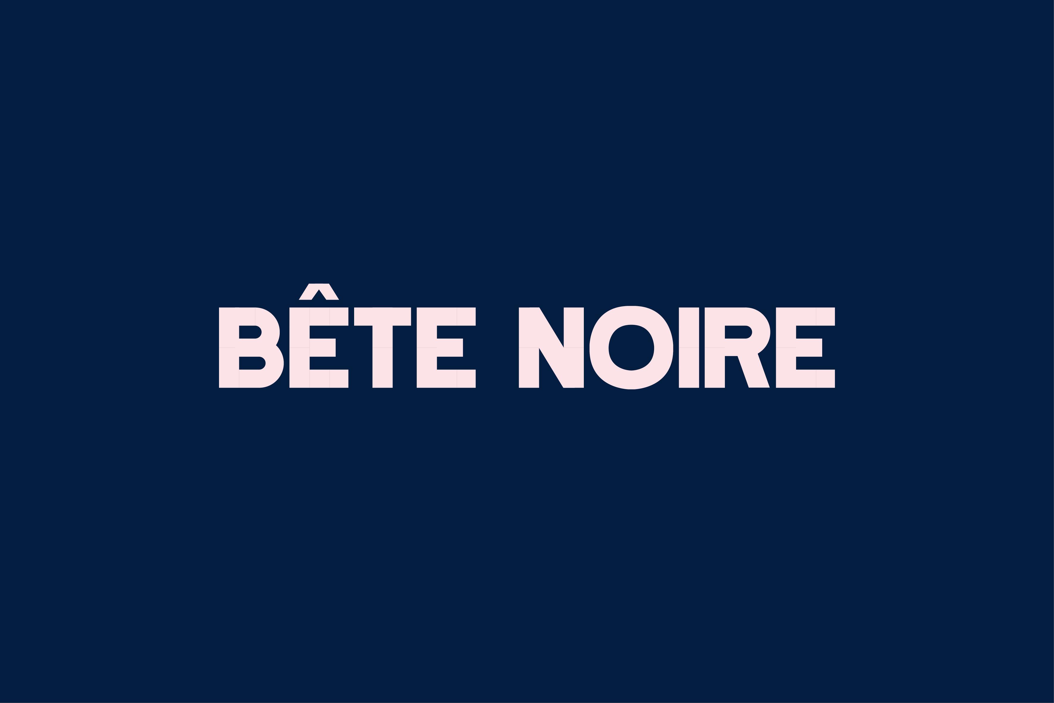 Bête Noire typeface