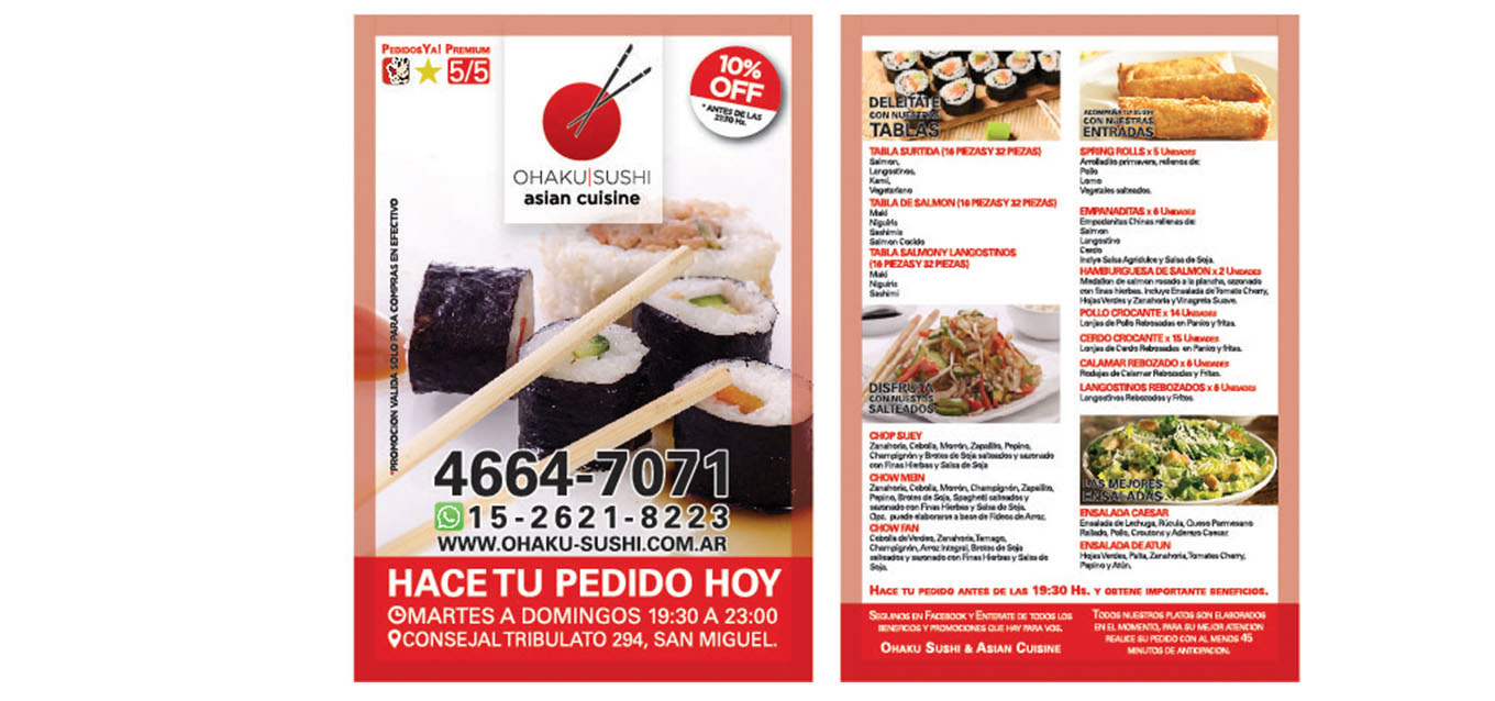 Flyer Ohaku Sushi & Asian Cuisine