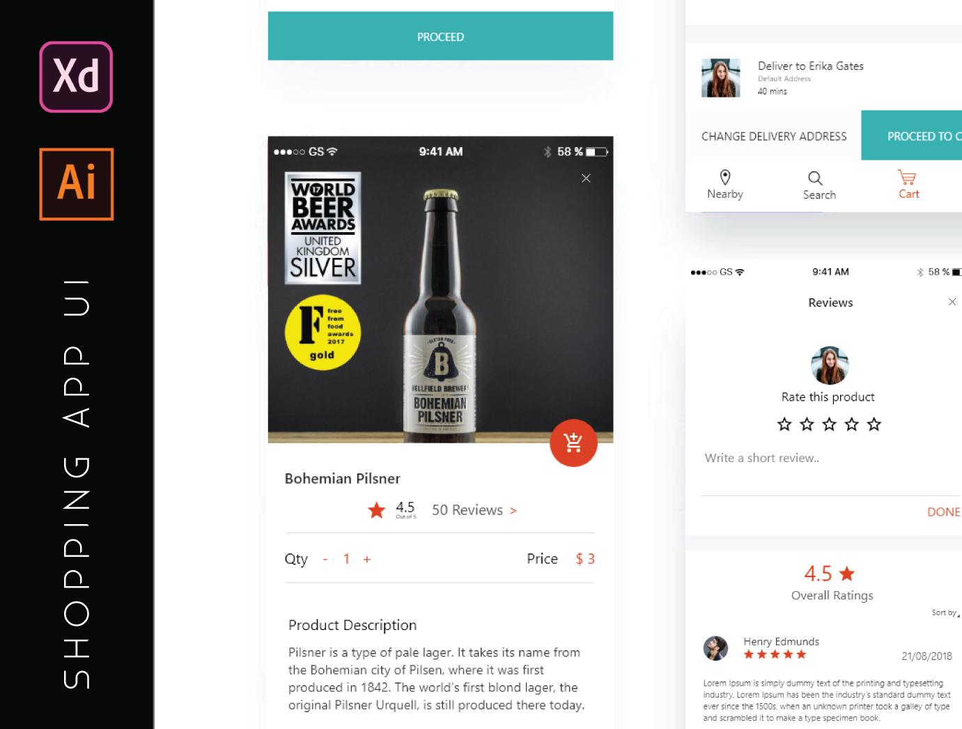 Shopping App UI kit