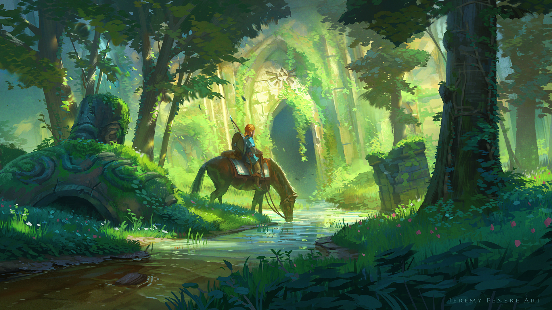 Link and the Forest Temple