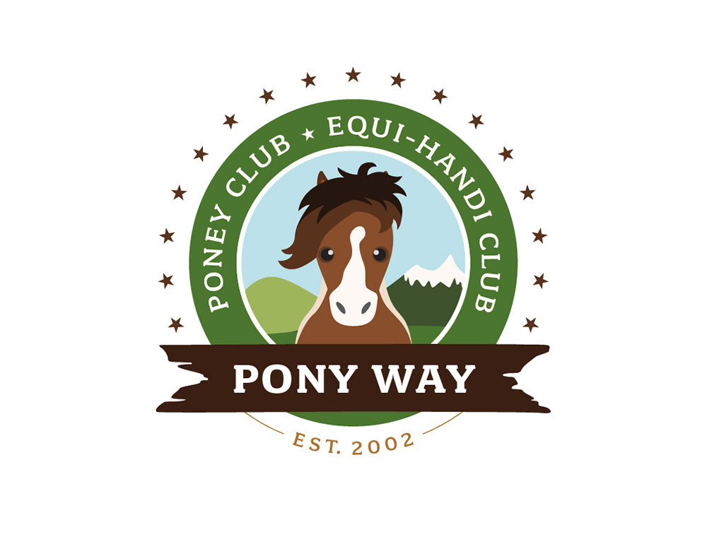 logo, identité, poney club, carte de visite, graphiste, lozère, cévennes, julie mercey