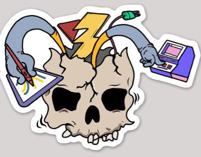 Sticker Design: Viral Carbons