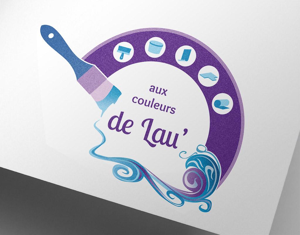 identité, logo, carte de visite, peintre, flocage, sticker, graphiste, lozère, cévennes, julie mercey