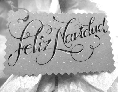 Christmas Name Tags // Hand Lettering