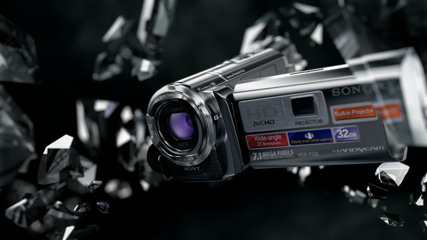 Vizualisation for promo site Sony HD camera