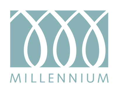 Millenium logo and identity system