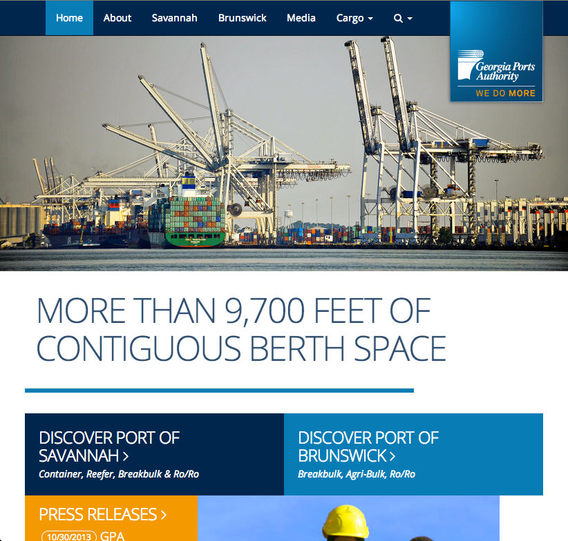 Georgia Ports Authority Website