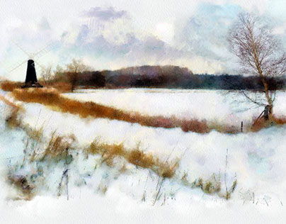 Landscapes in the snow