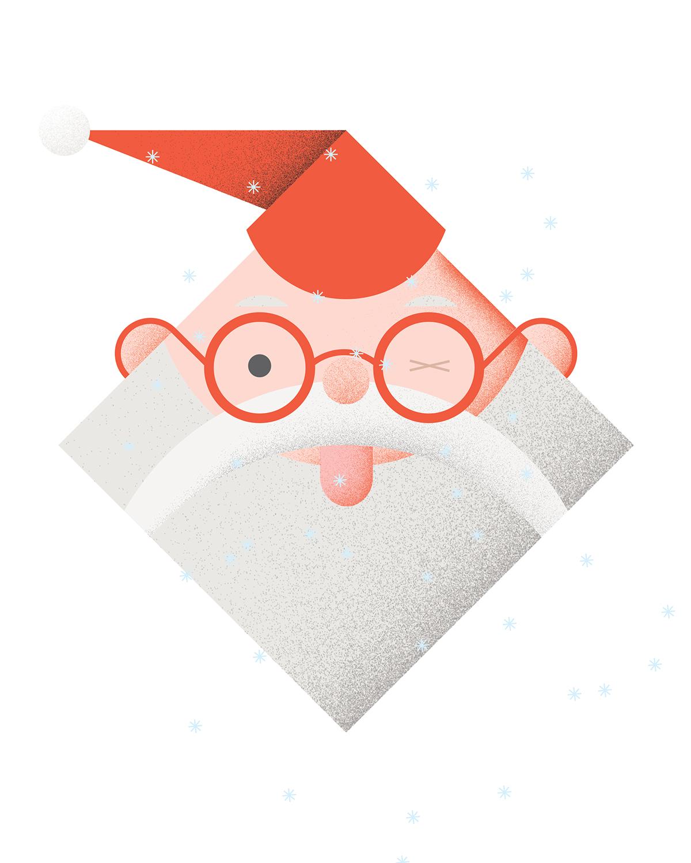 Monsieur Santa, Card and gift wrap