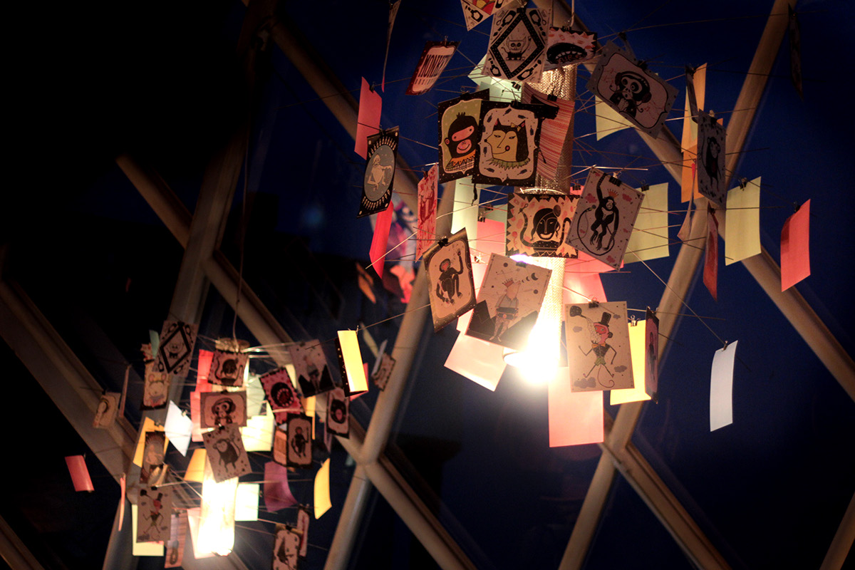 Monkey Bar, Delhi - Illustrative Light Installation