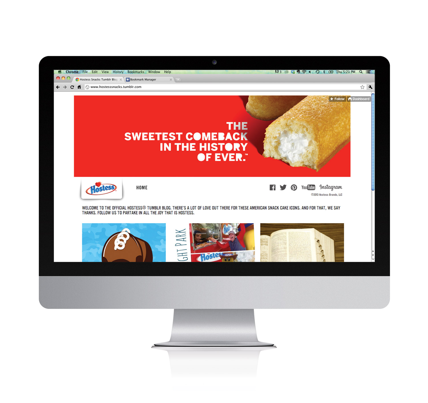 Hostess Brands Tumblr Blog
