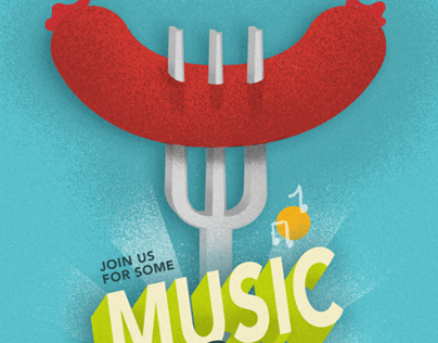 Music and Meat Invitation