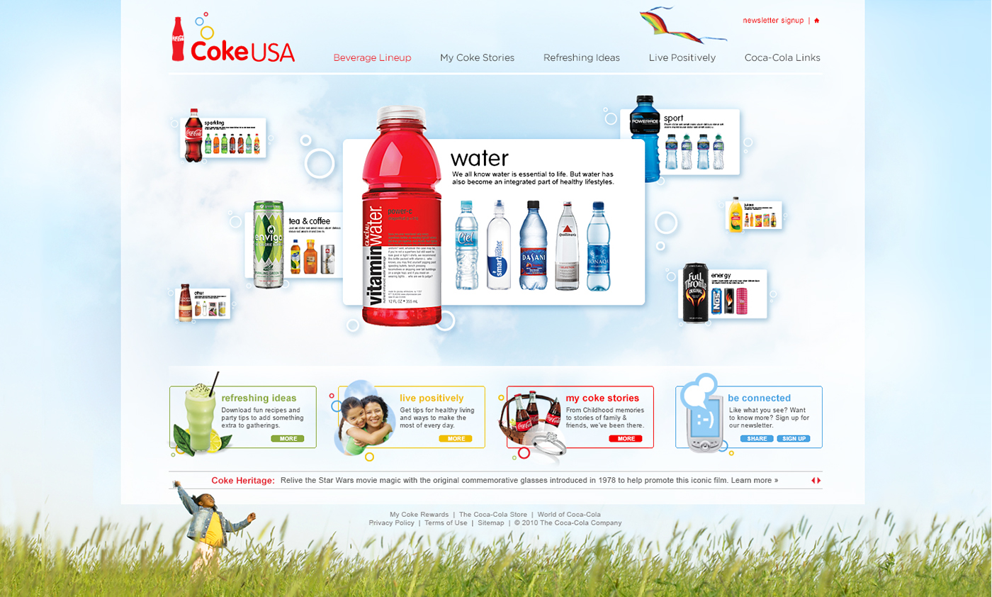 Coke USA Site