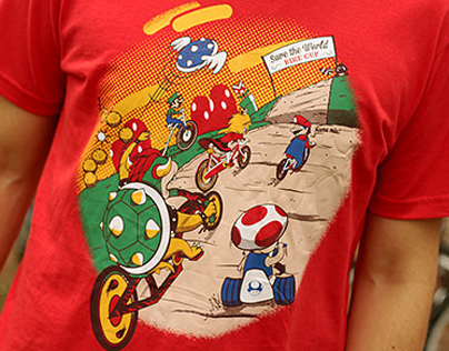 Super Mario Bike Cup / Illustration for T-shirt
