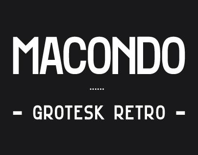 Macondo Grotesk - Typeface