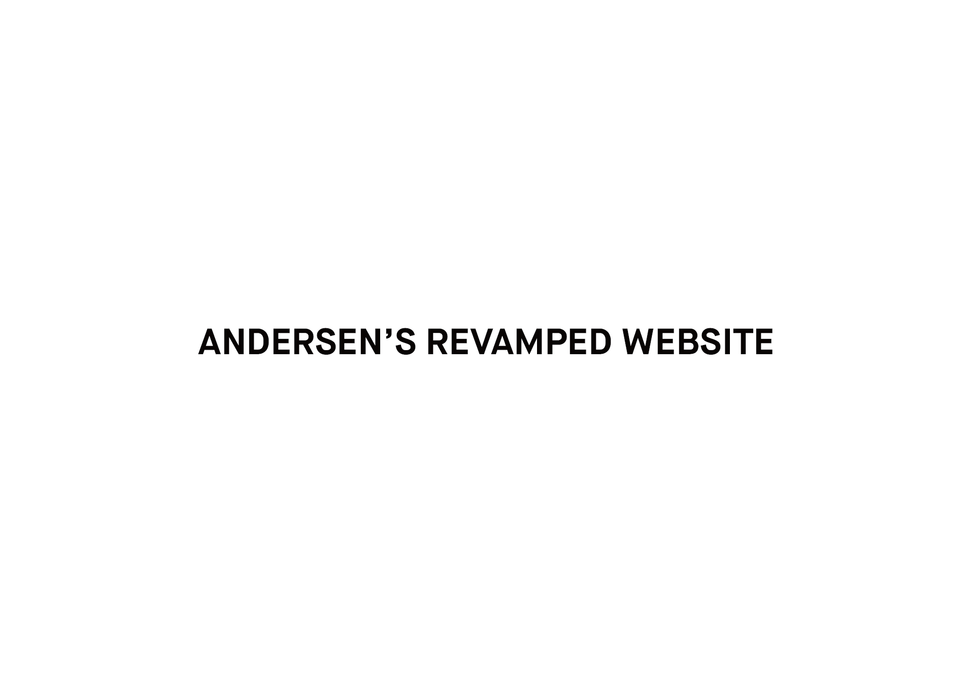 Revamped Andersen's Ice-cream Website V2