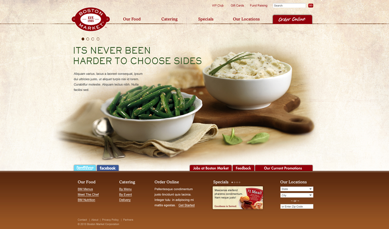 Boston Market website