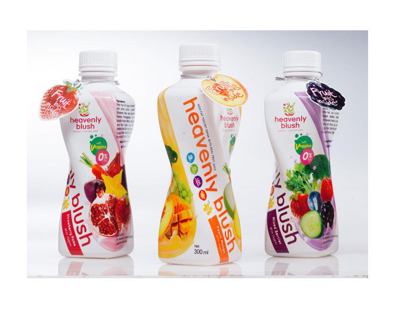 Heavenly Blush Yogurt Drink Packaging