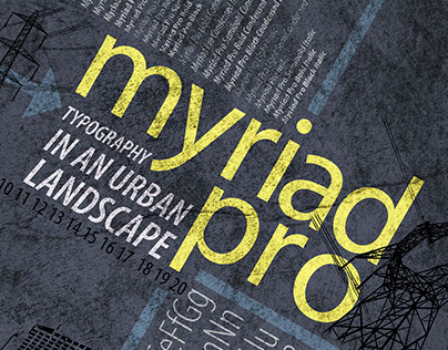 Myriad Pro: Typography in an Urban Landscape