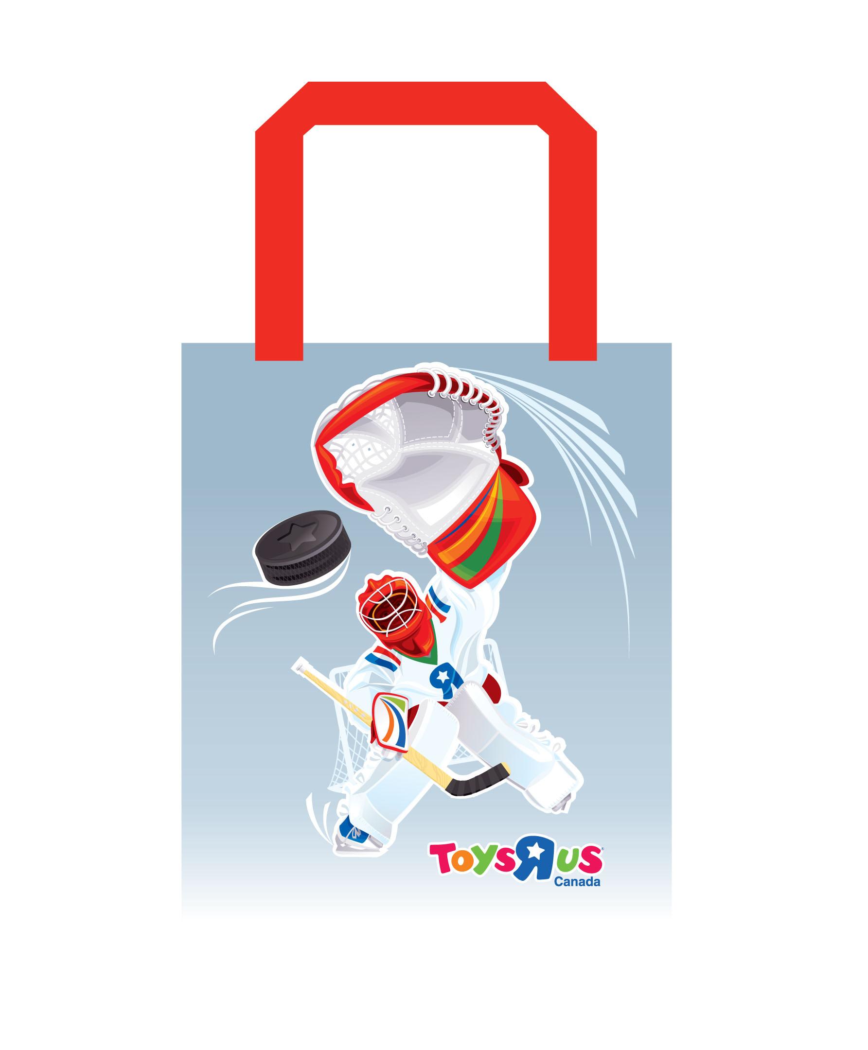 Shopping bags design for ToysRUs Canada