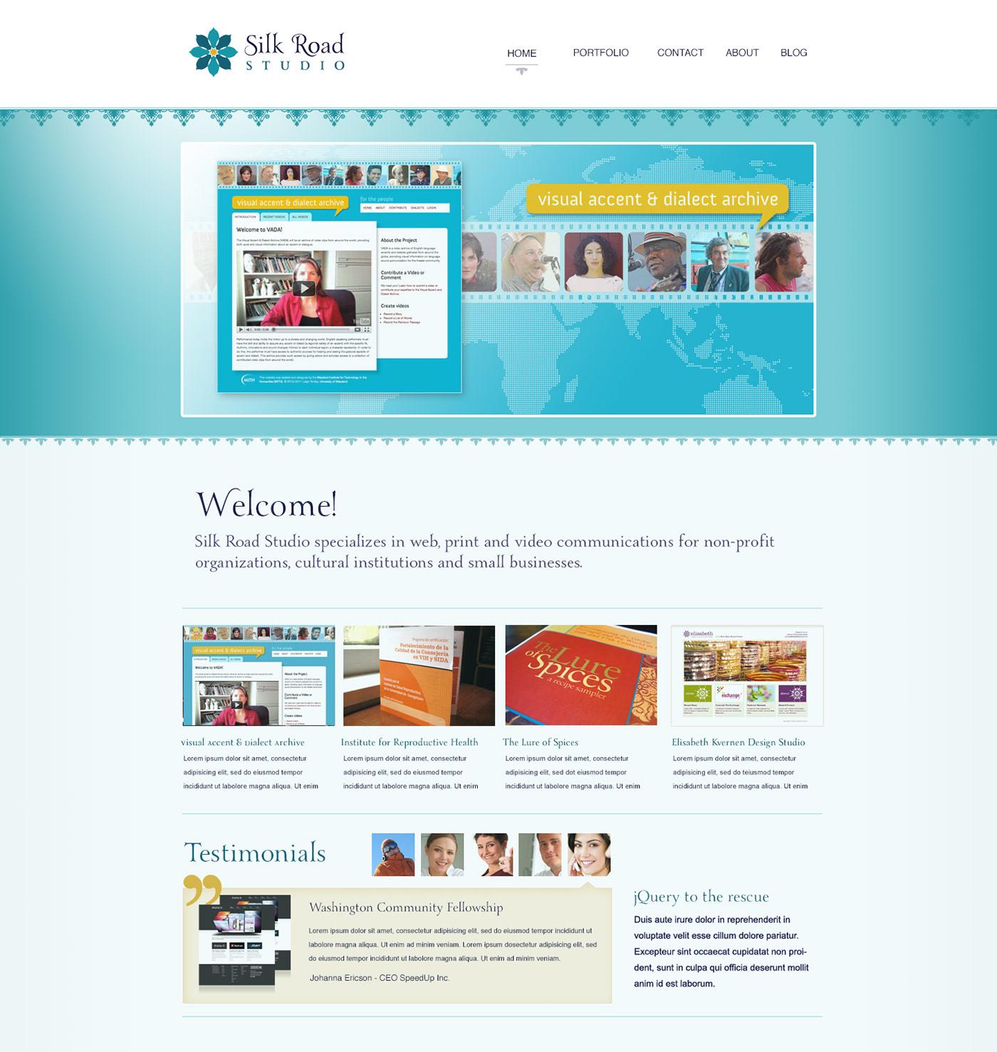 Silk Road Studio website