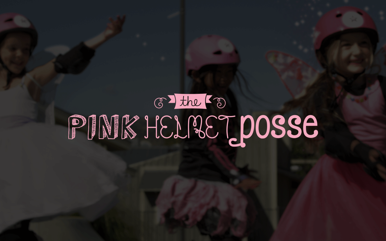 The Pink Helmet Posse Key Art and Title Treatment