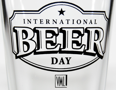 International Beer Day pint glass