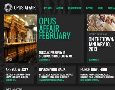 Opus Affair Website