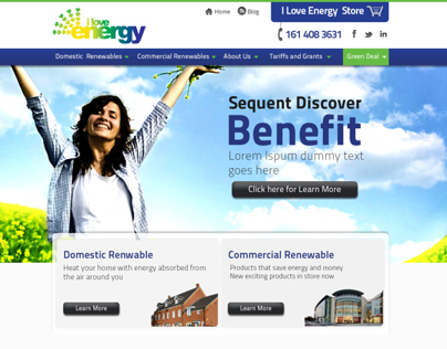 Redesigning I love Energy Website