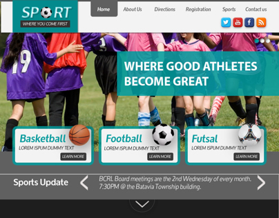 School Sports Website Design